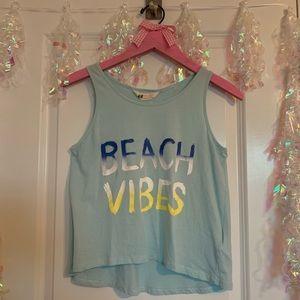H&M Girls Blue Teal Beach Vibes Summer Tank 10-12